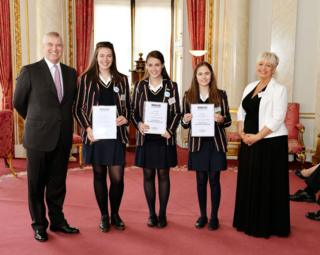 Teentech winners from Loreto Grammar School for Girls, Altrincham