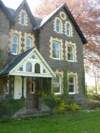 David Morgan's former home near Brecon