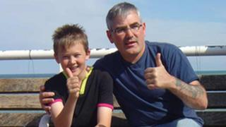 Daniel McCullagh (left) with his father Gabriel in Cromer