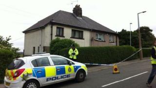 Police cordon around house