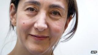 Ingrid Betancourt at a lunch gathering in Paris, file mage from 8 March 2010