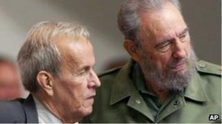 Ricardo Alarcon (left) and Fidel Castro in 2005