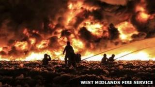 Firefighters tackle blaze in Smethwick