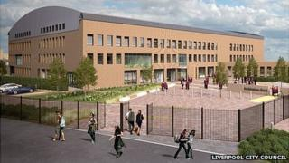 Artist's impression of the new Archbishop Beck Catholic Sports College