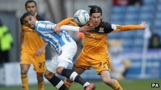 Huddersfield Town v Hull City in March 2013