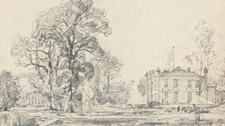 Coleorton Hall sketch by John Constable