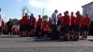 Plymouth Royal Mail workers on picket line in June