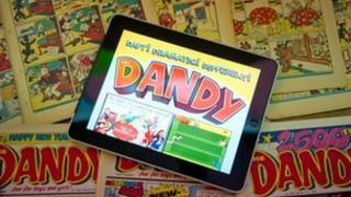 Print and tablet edition of The Dandy