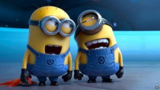 Minions from the Despicable Me 2 film