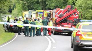 Crash near Kingsfold