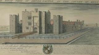 Stolen Hever Castle print