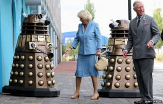 Charles and Camilla and Dalek