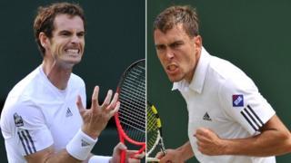 Andy Murray and Jerzy Janowicz