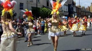 Cowley Road Carnival procession in 2010