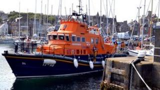 Lerwick lifeboat after the rescue