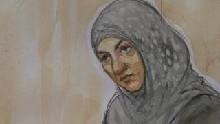 Court artist's image of Nasreen Akhtar