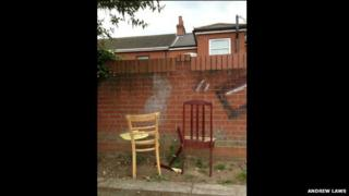 Two broken chairs in Ipswich