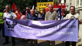 Ipswich Unite Against Fascism march