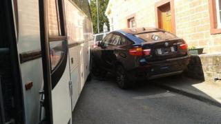 Car crashes with bus in Appleby