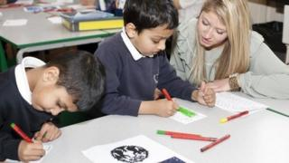 Teach First teachers in a primary school