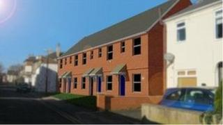 Drawing of new Lincoln City Council houses