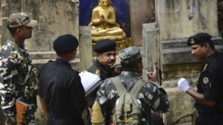 Indian officials are investigating multiple blasts at the Mahabodhi temple