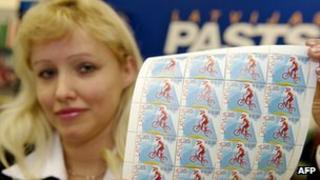Twin-currency Latvian stamps launched for sale in 2013