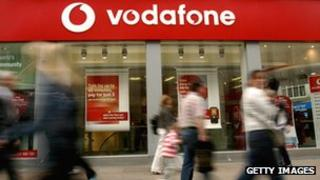 Vodafone store in the UK