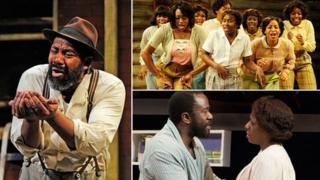 (Clockwise from left) Fences, The Color Purple, The Amen Corner