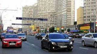 High-performance Western cars in Moscow - file pic