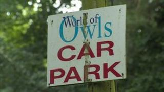 World of Owls sign