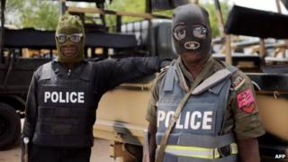Nigerian police fighting Boko Haram (file photo)