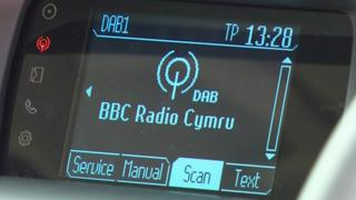 Digital radio in car