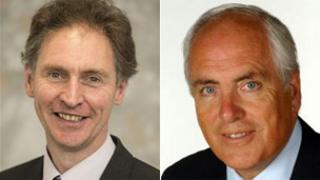 Councillor Simon Letts (left) and Councillor Roy Perry