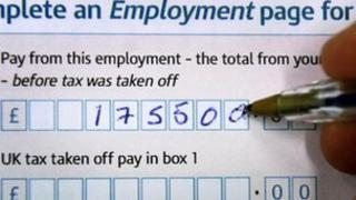 Self-assessment tax form