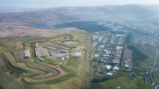 Artist impression of circuit