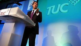 Ed Miliband at the TUC