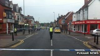 scene at Evington Road, Leicester