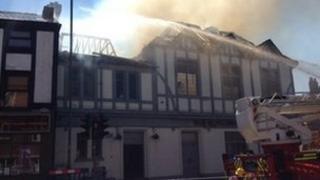 Harborne pub fire