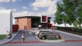 Staffordshire community fire stations