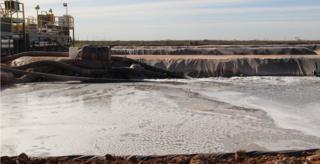 Fracking wastewater