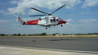 Solent Coastguard helicopter