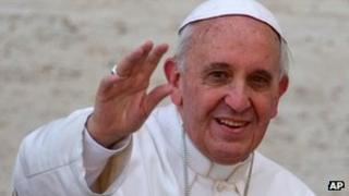 Pope Francis at the Vatican, April 2013