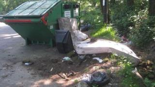 Mini-recycling centre in Hurn