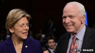 Elizabeth Warren and John McCain