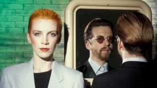 Eurythmics (l-r) Annie Lennox and Dave Stewart