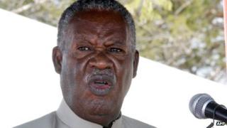 Michael Sata delivers a speech in May at the construction of a university