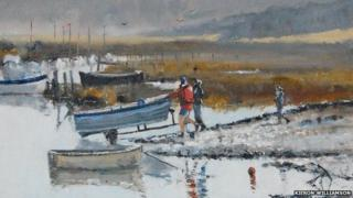 Frosty start to spring, Morston (detail)