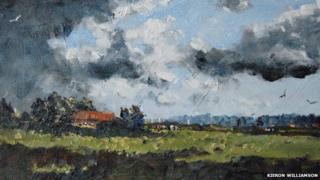 Distant barn, Trunch (detail)