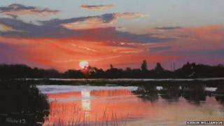 Broadland sunset (detail)